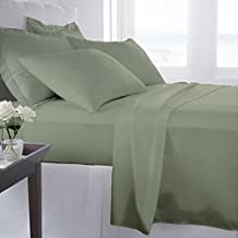 Egyptian Bedding HARD-TO-FIND Luxurious 100% WOVEN TENCEL LYOCELL Bed Pillow Case Set, Silky Soft, Eco-Friendly & Naturally Pure Fiber from Eucalyptus Trees, Standard / Queen Size, Sage