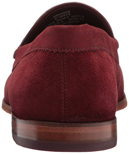 Ted Baker Mens Dougge Mocassino Slip-on Rosso Scuro