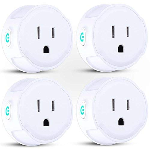 Price comparison product image Smart Plug, WiFi Outlet Mini Socket, Compatible with Alexa/Echo Dot/Google Home/IFTTT, Remote Control from Anywhere, No Hub Required, Timing Function-4 Pack