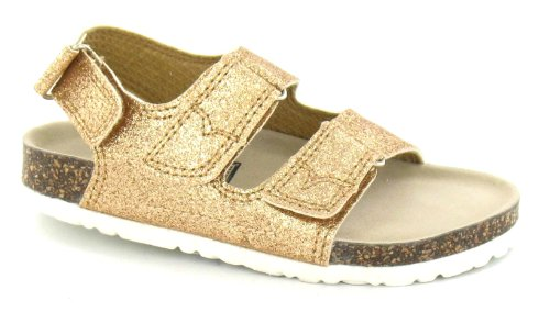 Down To Earth Girls Two Strap Detail Sandal Gold yhQzghz8