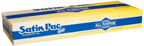 Dixie Satin-Pac Clear High Density Poly Film, Meat Separating Sheet, S-12, 10 Boxes of 1,000 Sheets, 10,000 Sheets per Case ()
