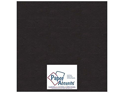 Paper Accents Chipboard 12 x 12 in. Extra Heavy Black (25 sheets)