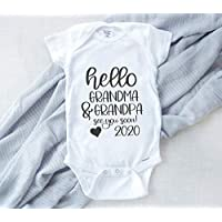 Baby Reveal Onesie, Pregnancy Announcement for Grandparents, Coming Soon Baby Onesie Announcement