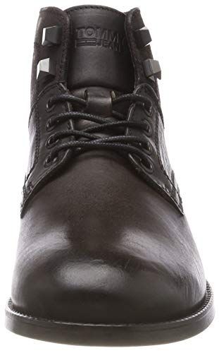 Marron Tommy Dark Leather Jeans Casual Boot 028 Desert Homme Shadow 00FqYw