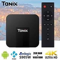 SreeTeK Tanix TX3 Mini Android 7.1 PC; 2GB/16GB Smart TV Box Supports JIO T.V. Hot Star Apps, UHD 4K 1080P