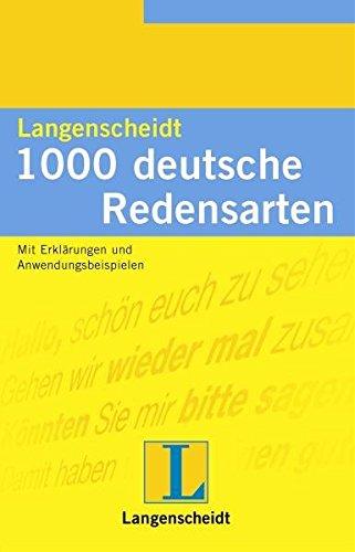 Langenscheidt 1000 Redensarten, Deutsch