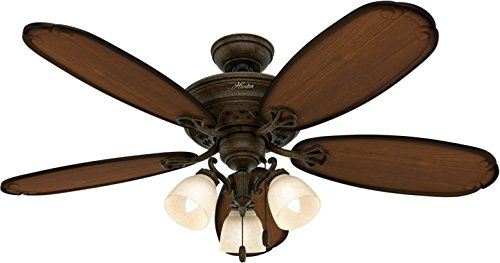 Hunter Ceiling Fan Gold 54015 Crown Park 54'' with Light, Tuscan Gold (Desk Fan Included) by Hunter (Image #4)