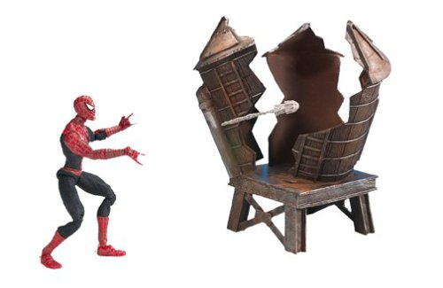(Spider-Man 2: The Movie Twist N' Shoot Action Figure with Street Fighting and Web Slinging Actions)