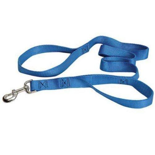 The Grrrip Two Handled Dog Leash – 3/4″ x 6′ Blue, My Pet Supplies