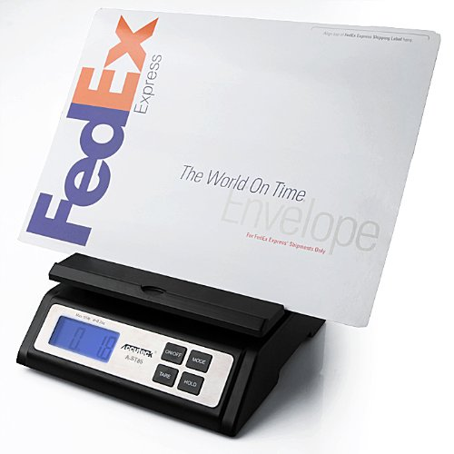 Accuteck Heavy Duty Postal Shipping Scale with Extra Large Display, Batteries and AC Adapter (A-ST85C)