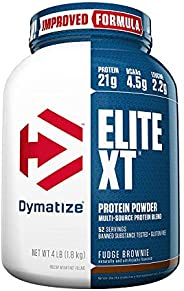Dymatize Mezcla de Proteínas y Aminoácidos Elite Xt Fudge Brownie, 4 lb