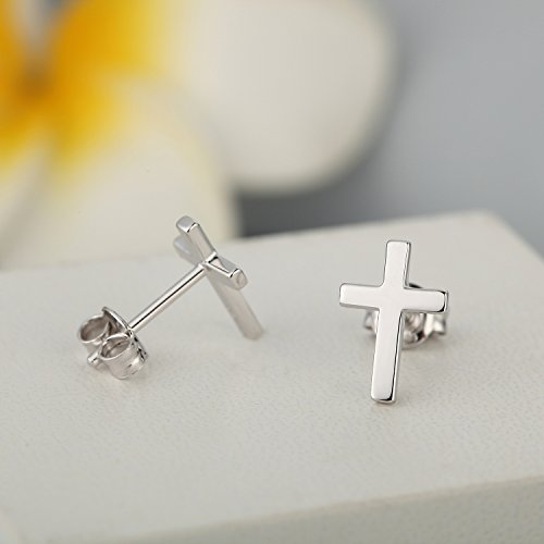 2152089b6 Simple Cross Stud Earrings Gorgeous Small Cross Dangle Earrings  Hypoallergenic Sterling Silver Cross Stud Earrings Religious