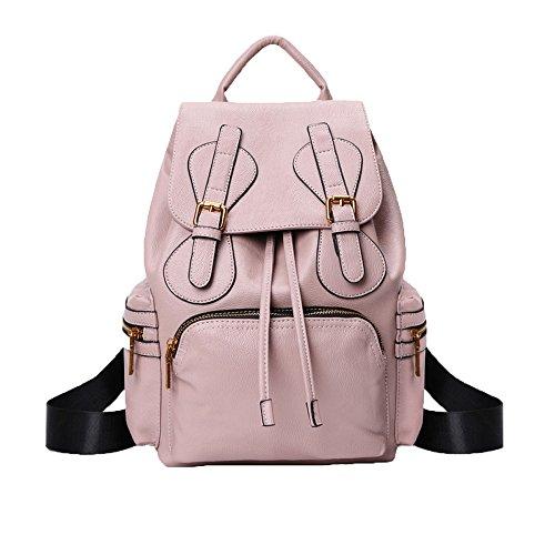 ADEMI De Daypack Dos Sac Pour Bandoulière Sac Voyage à Délicat Sac Pink Style Femmes Cuir En De à CgBwrqC
