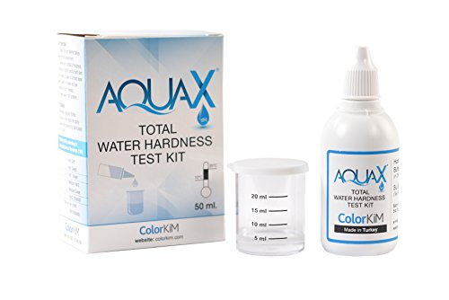 (ColorKiM Total Water Hardness Test Kit for Quick and Accurate Measurement of Total Hardness of Pool, Spa, Aquarium, Well and Tap Water and Improving Water Softener Efficiency)