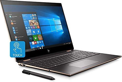 "2019 HP Spectre 2-in-1 15.6"" 4K UHD Touch-Screen Laptop- GEM Cut, Quad-core Intel i7, 16GB DDR4, 1TB PCI-e SSD, NVIDIA 2GB MX150, Thunderbolt, Bang & Olufsen Audio, Stylus, Windows 10, Dark Ash Silver"