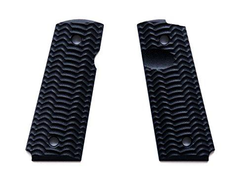 E Gun Grips H2-J4-1 Beautiful Custom G10 Tactical Pistol Grips for Compact Size 1911 Handguns, Black