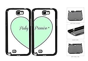 Mint Heart Pinky Promise Best Friends Set Hard Plastic Snap On Cell Phone Case Samsung Galaxy Note 2 II N7100