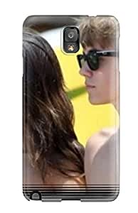 Hot New Justin Bieber And Selena Gomez Photos Case Cover For Galaxy Note 3 With Perfect Design