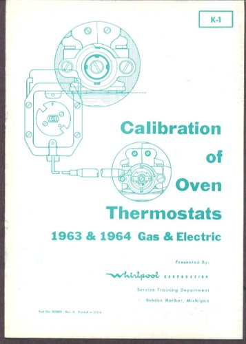 Whirlpool Oven Thermostat Calibration manual 1964-5