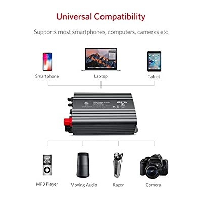 BESTEK 500W Power Inverter DC 12V to 110V AC Converter with 4.8A Dual USB Car Charger ETL Listed (Grey): Home Audio & Theater