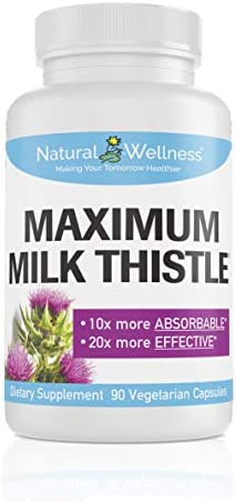 Milk Thistle 10x More Absorbable, 20x More Effective Maximum Milk Thistle by Natural Wellness