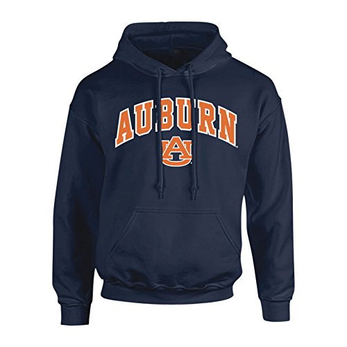 (Elite Fan Shop Auburn Tigers Hooded Sweatshirt Arch Navy - L )