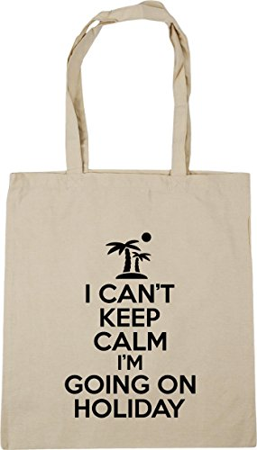 10 HippoWarehouse on Gym Natural 42cm can't keep calm x38cm Bag Beach holiday i'm litres Tote I going Shopping qYrRqSxvZw