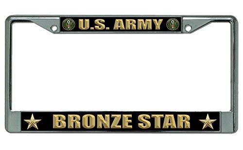 U.S. Army Bronze Star Chrome License Plate ()