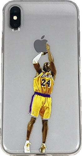 Soft TPU Basketball Case with Your Favorite Past and Present Players (Bryant Jumper, iPhone X) ()
