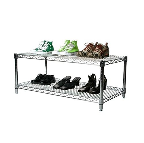 Commercial Chrome Wire Unit 18 x 36 - 2 Shelf Unit - 14'' Height by LJ