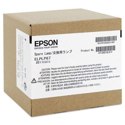 EPSON AMERICA ELPLP67 Replacement Lamp for EX, MegaPlex, PowerLite 1221/1261W/S11/X12, VS (V13H010L67)