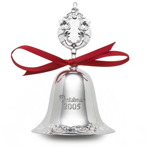 (Wallace Silver Grand Baroque Silverplate Bell, Christmas Ornament)