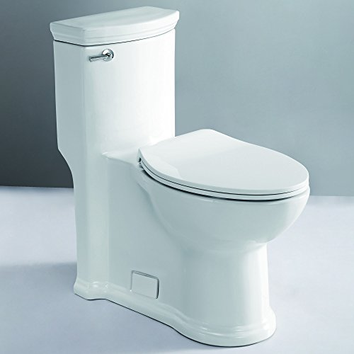 EAGO TB364 ADA Compliant One Piece Single Flush Toilet, White