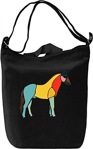 Horse Borsa Giornaliera Canvas Canvas Day Bag| 100% Premium Cotton Canvas| DTG Printing|