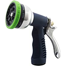 OUNONA Hose Nozzle Anti-Leak Heavy Duty High Pressure with Rubberized Grip 9 Patterns