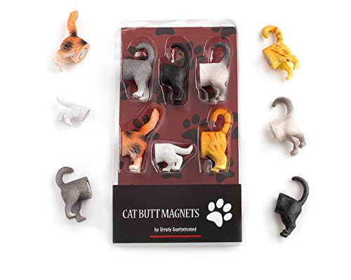 Cat Butt Refrigerator Magnets for Cat Lovers Home and Office Decorations (Cat Magnets)