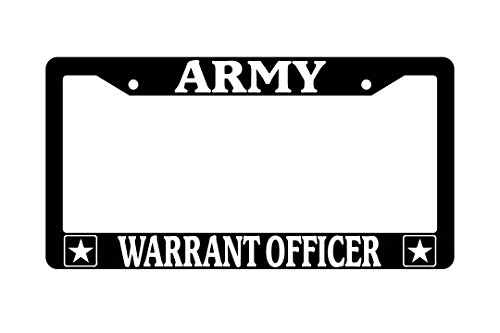 Army Warrant Officer Black Plastic License Plate ()