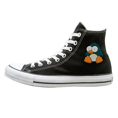 Hilo Canvas Shoes Penguin Cartoon Hi-Top Unisex Canvas Sneaker- Season Lace Ups Shoes Casual Trainers Men And Women 41