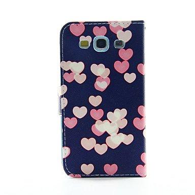 Casos hermosos, cubiertas, Patrón de amor de la PU caja del teléfono de cuero para la galaxia s3 9300 / s4 9500 / s5 9600 ( Modelos Compatibles : Galaxy S3 ) Galaxy S3