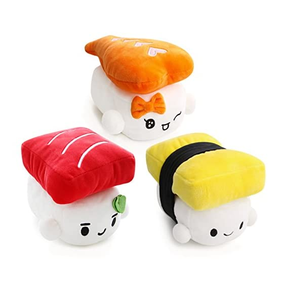 Sushi Plushies - Egg, Shrimp, Tuna 1