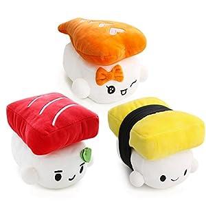 """Amazon.com: Sushi Cushion 6"""" (15cm) x 3 set, Egg, Shrimp"""