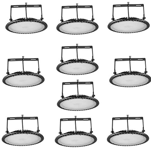 (10pcs 200W UFO LED High Bay Light lamp Factory Warehouse Industrial Lighting chunnuan,24000 Lumen,6000-6500K,IP54,Waterproof Dust Proof, Warehouse LED Lights- LED High Bay Lighting )
