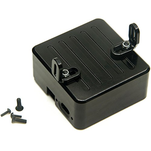 Axial SCX10 Electronics Box for 1/10 Axial SCX-10 CC01 F350 D90 Rock Crawler RC Car Black Alloy Electronic Boxs Silver