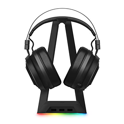Razer Nari Ultimate Wireless 7.1 Surround Sound Gaming Headset and Razer Base Station Chroma Headphone/Headset Stand w/USB Hub - [Matte Black]