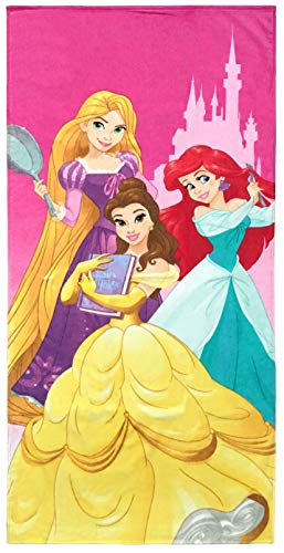 Disney Princesses We are Strong Kids Bath/Pool/Beach Towel - Super Soft & Absorbent Fade Resistant Cotton Towel, Measures 28 inch x 58 inch (Official Disney Product)