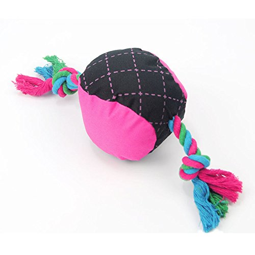 Petseeker Candy Plush Squeaker Cat and Dog Toy Double Ended Cotton Rope Pet Toys (Pet Candy)
