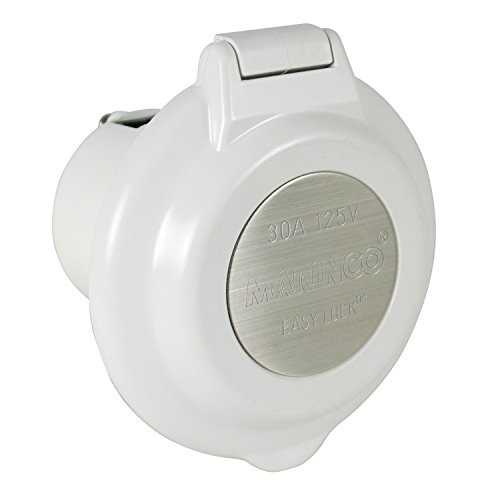 ParkPower by Marinco 304EL-BRV 15A, 20A, 30A & 50A Power Inlets, White ()