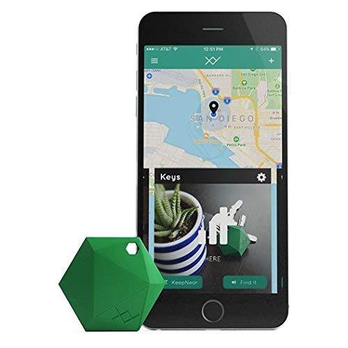 XY4+ Key Finder - Bluetooth Item Finder, Phone Finder, Car Key Tracker Device - Key Locator Tags Find Lost Keys, Keychain, Smartphone, Wallet, Luggage (Green)