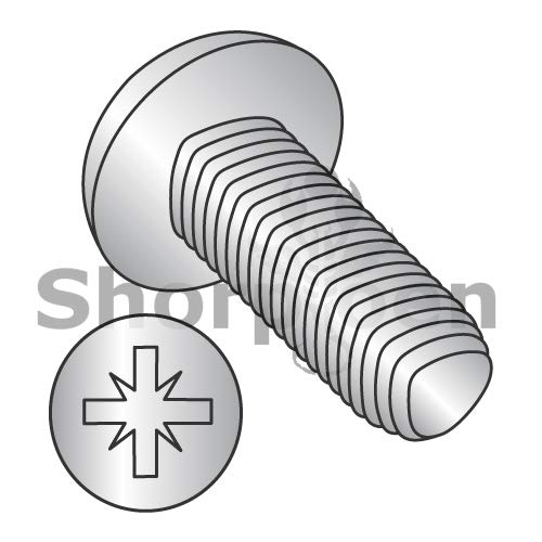 SHORPIOEN Din 7500C Metric Type Z Pan Thread Roll Screw Full THD 18 8 Stain Steel Pass/Wax M2.5-0.45 x 10 BC-M2.510RZP188 (Box of 4000)