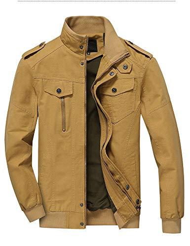 (XSQR Autumn Men's Style Jacket Cotton Washed Men Flight Jacket Coat,001,XXXXXL)